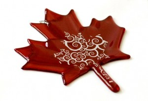Glass Fusing Decals Maple Leaf